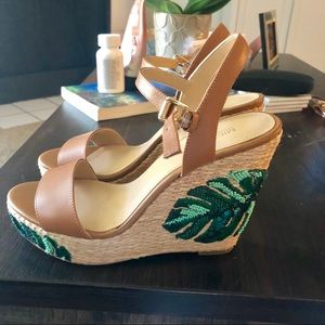 595071d76 MICHAEL Michael Kors Shoes - Michael Kors Fisher Palm Embroidered Wedge